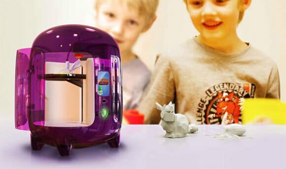 Uma impressora 3D feita para converter os desenhos das crianças em brinquedos