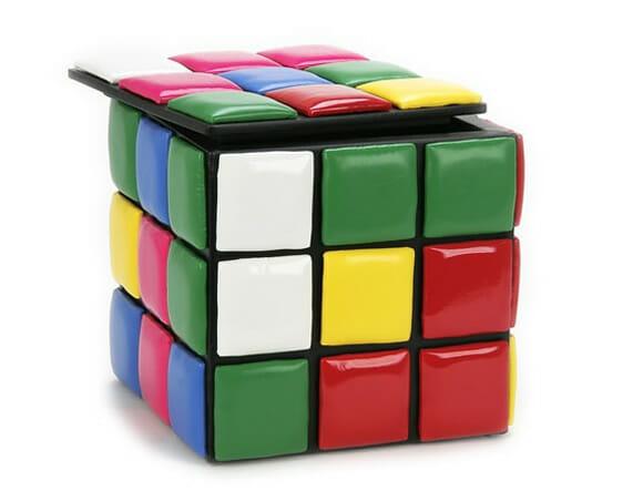 Rubik Cube Stool, a banqueta Cubo Mágico!