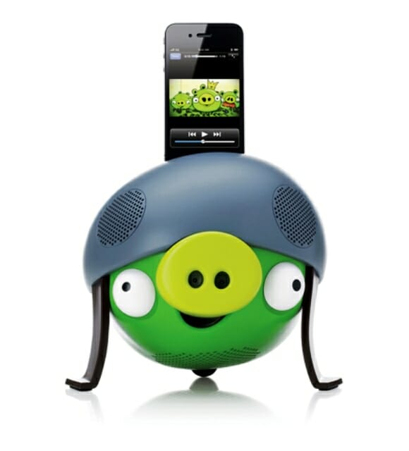 Speaker e Docking Station Angry Birds para iPhones e iPods Touch.
