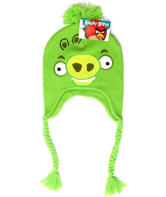 Toucas estilosas para fãs de Angry Birds.