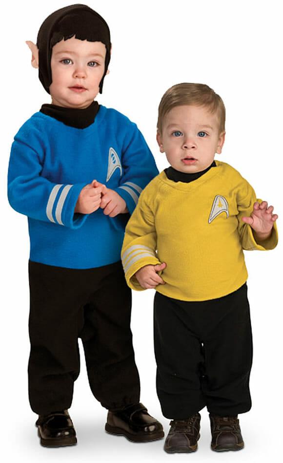 Trajes do Star Trek para os filhos dos geeks.