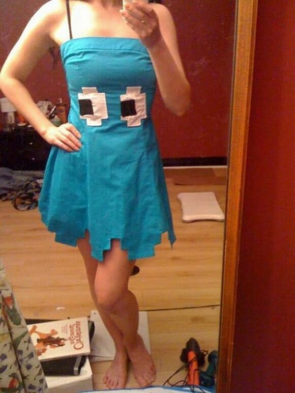 Moda geek: Vestido do Fantasma Inky do game Pac-Man.