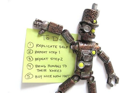 Monte seu próprio robô com imãs de geladeira steampunk!