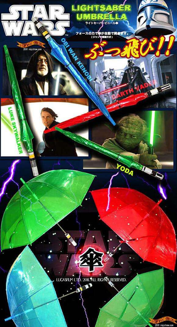 Proteja-se das chuvas com Sabres de Luz!