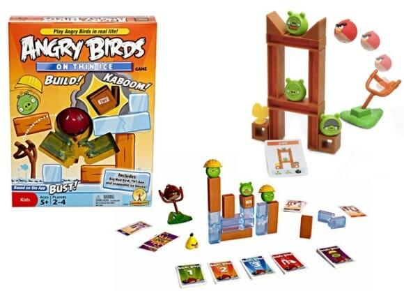 Novo jogo de mesa do Angry Birds - Agora com blocos de gelo que se quebram!