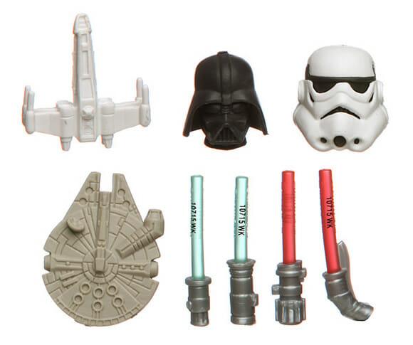 Borrachas do Star Wars - Teria coragem de usar?