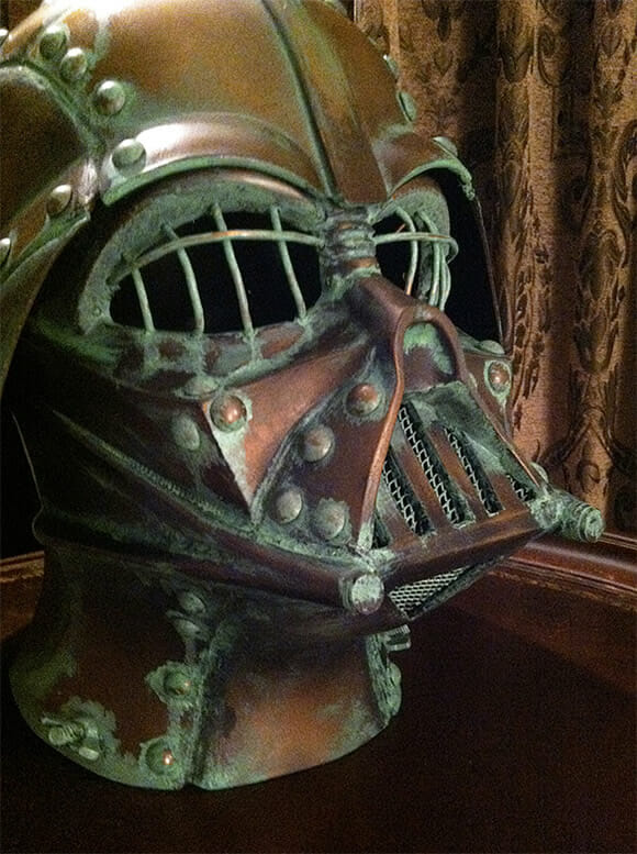 Capacete steampunk do Darth Vader. Awesome! (com vídeo)