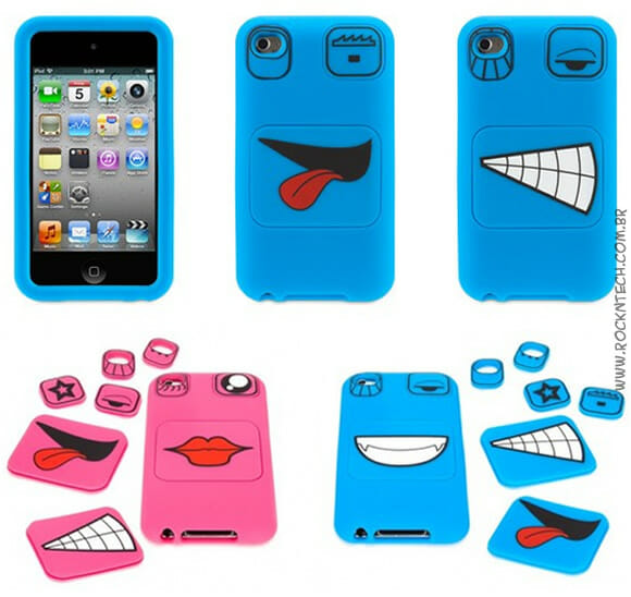 Case Faces - Para deixar seu iPod Touch 4G de cara nova!
