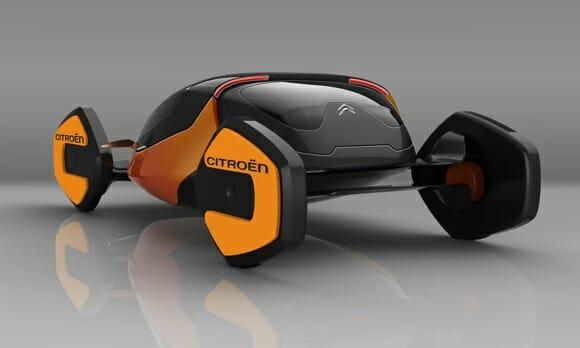 Carro conceito inspirado em carangueijo tem design futurista e pode andar de lado.
