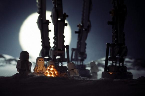 Cenas perfeitas criadas com minifigs do Star Wars.