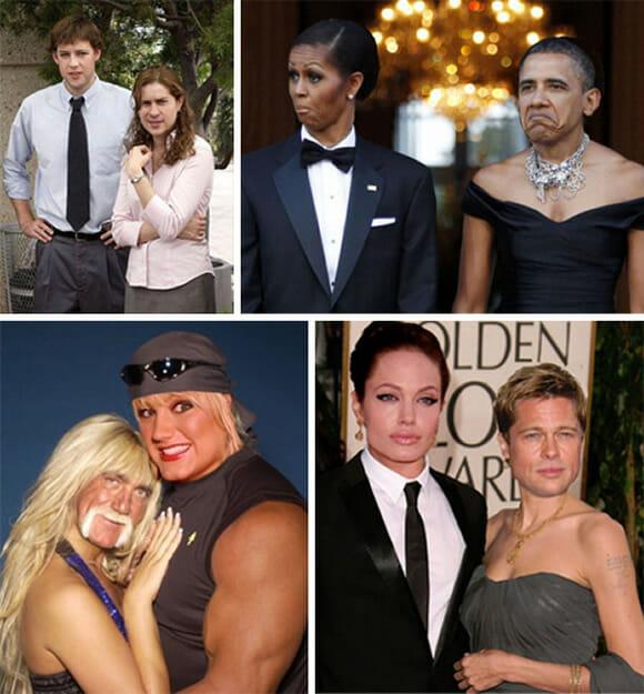 Brad Pitt com cara de Angelina Jolie? Nada como o Photoshop!