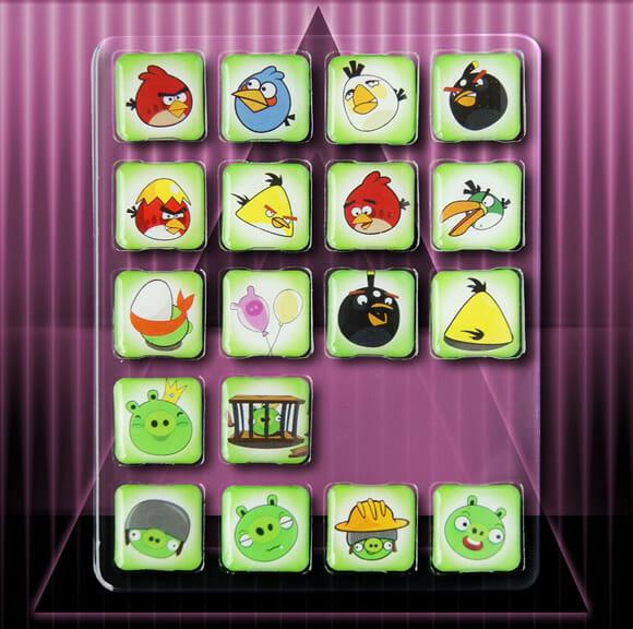 Decore sua geladeira com Angry Birds e Green Pigs.