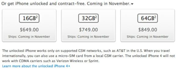 RUMOR: Versão desbloqueada do iPhone 4S já tem preço e data definida para lançamento.