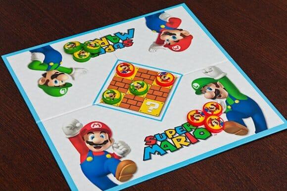 Jogo de Damas do Super Mario.