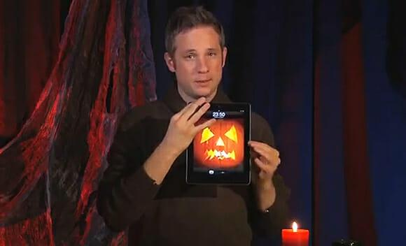 Show de mágica de Dia das Bruxas usando um iPad. (vídeo)