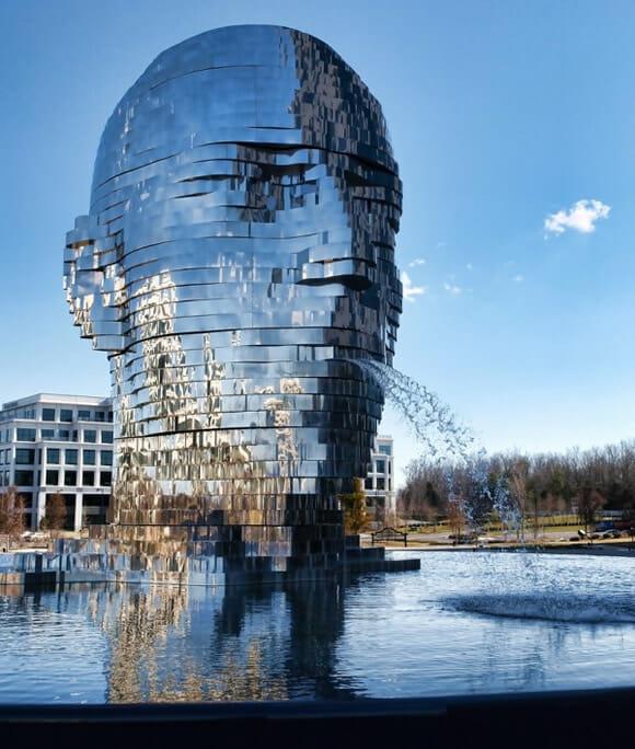 Metalmorphosis - A incrível escultura de metal que é uma verdadeira metamorfose. (vídeo)