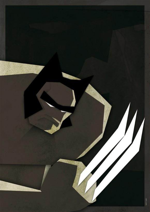 Posters Vintage de Super-Heróis.