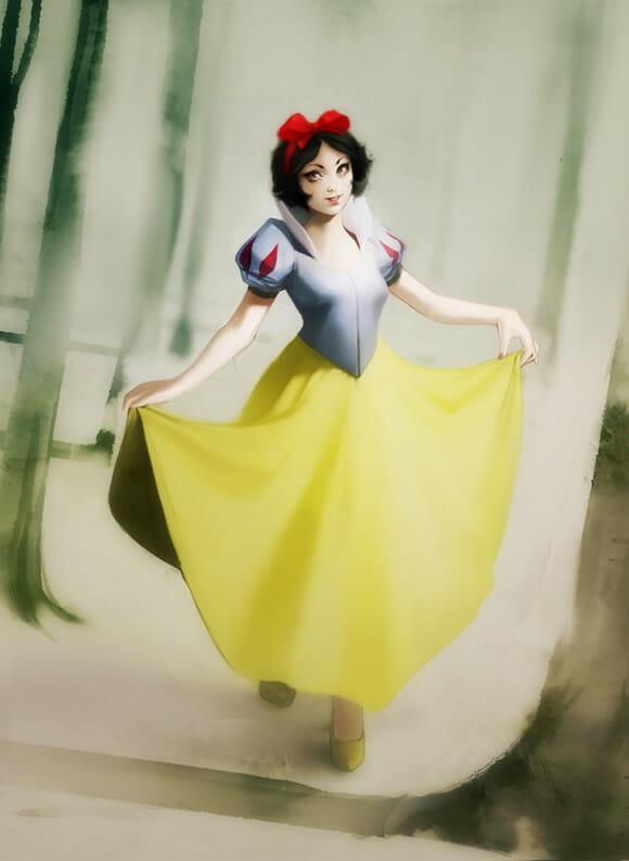 Ilustrações realistas das princesas da Disney