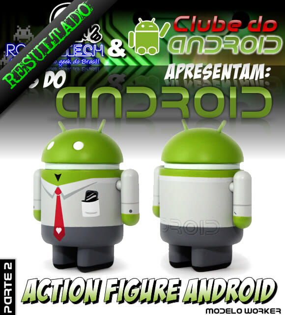 Resultado Promoção Mês do Android Parte 2 – Action Figure do Android.