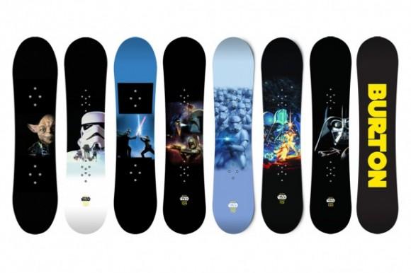Verdadeiros geeks praticam Snowboard com pranchas de Star Wars!