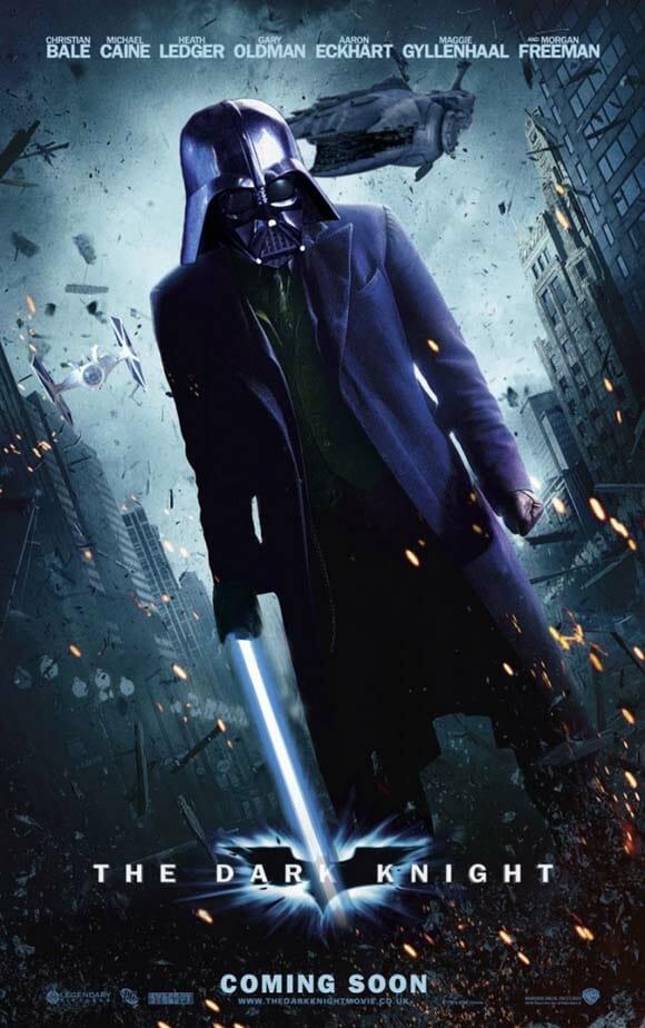 Como seriam os pôsteres de Star Wars se fossem iguais aos de outros filmes ou séries?
