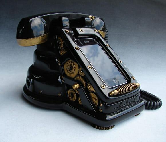 iRetrofone - Um telefone retrô Steampunk para turbinar o seu iPhone!