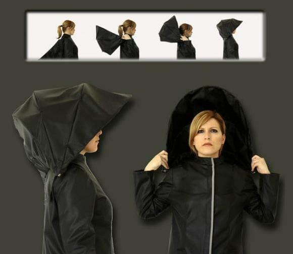 Capa de chuva com guarda-chuva integrado - Dê adeus ao seu guarda-chuva!