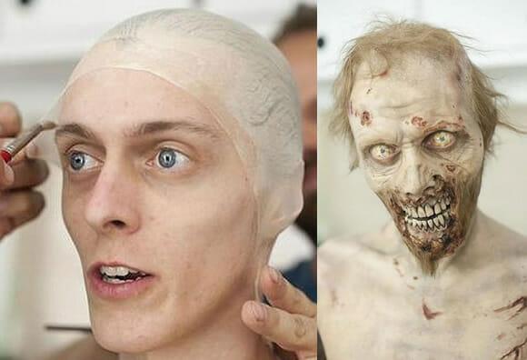 Como são feitas as maquiagens dos zumbis da série The Walking Dead. (vídeo)