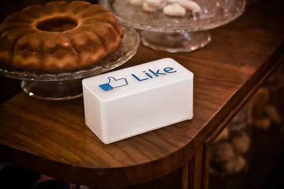 Botão Like do Facebook para quem curte ganhar umas gorjetas