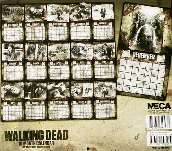 Conte seus dias de sobrevivência em um calendário com o tema Walking Dead!