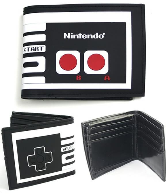 Guarde seu rico dinheirinho em uma carteira que imita o controle do Nintendinho 8-bits