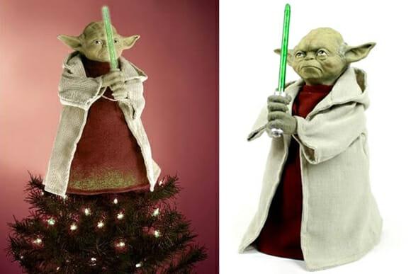 Enfeite o topo da sua árvore de Natal com o Mestre Yoda!