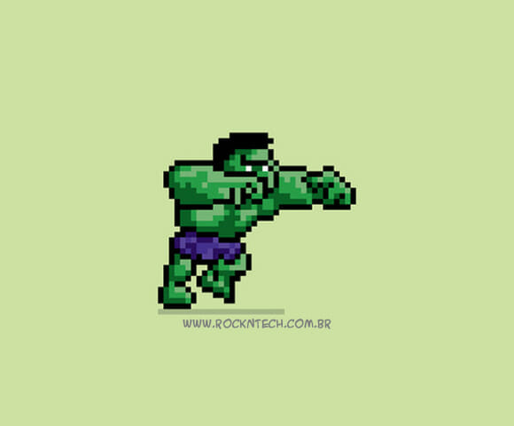 Personagens da cultura pop estilo 16-bits