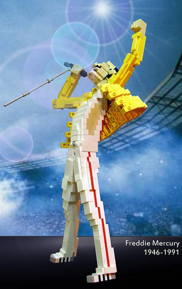 Freddie Mercury feito de LEGO