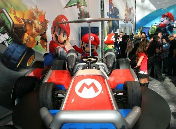Nintendo exibe um modelo real do Kart do Super Mario na feira de Automóveis de Los Angeles
