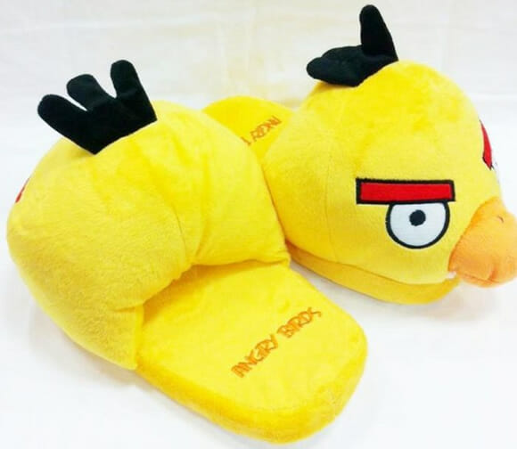 Pantufas de aves irritadas para fãs de Angry Birds!