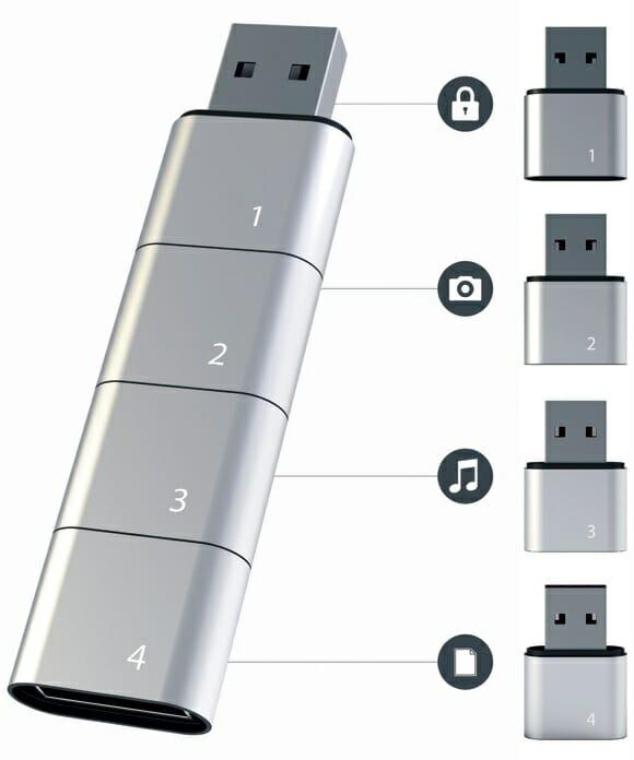 Pen drive Amoeba - Vários pen drives em um só!