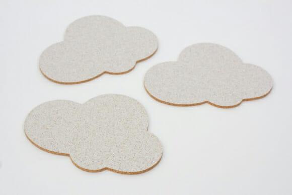 Porta-copos criativos em forma de nuvens