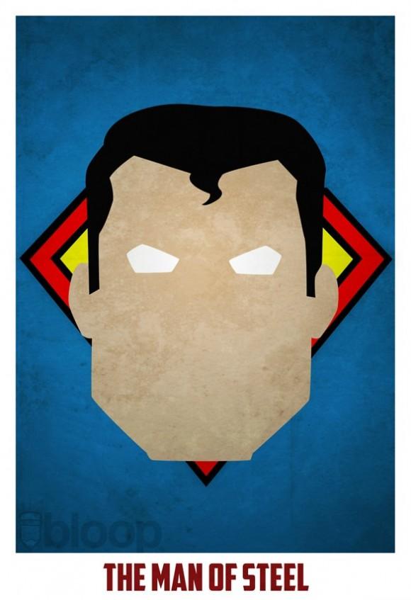 Posters de Super-Heróis. Minimalistas e super legais!