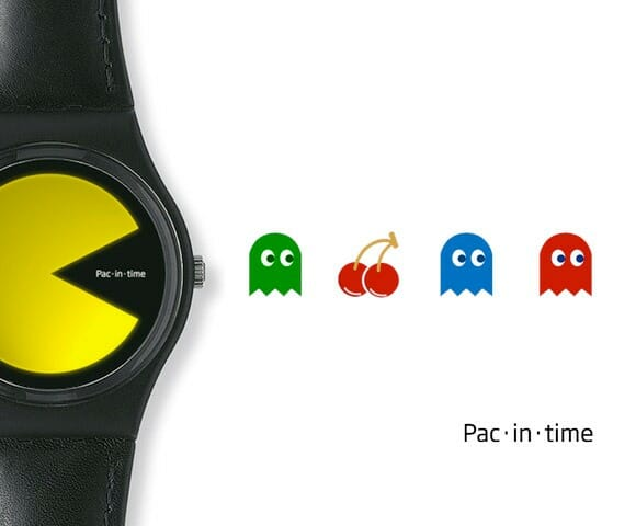 Pac-in-time - Um relógio de pulso minimalista inspirado no Pac-Man