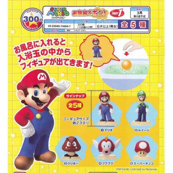 Sabonetes da linha Super Mario Bros. oferecem brindes surpresa