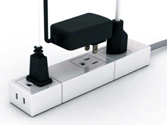 Régua elétrica modular inteligente coloca ordem na bagunça dos fios do PC