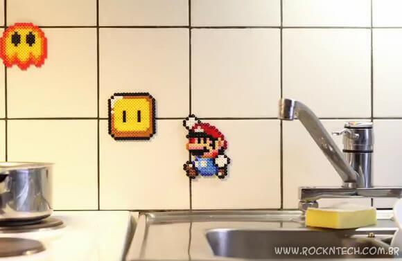 VIDEOFUN - Stop motion épico com Super Mario feito de miçangas