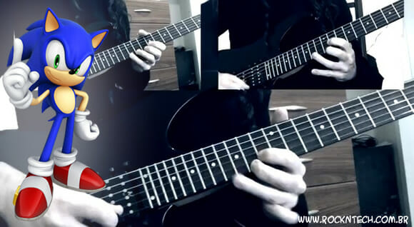 VIDEOFUN - Sonic The Hedgehog tocado na guitarra