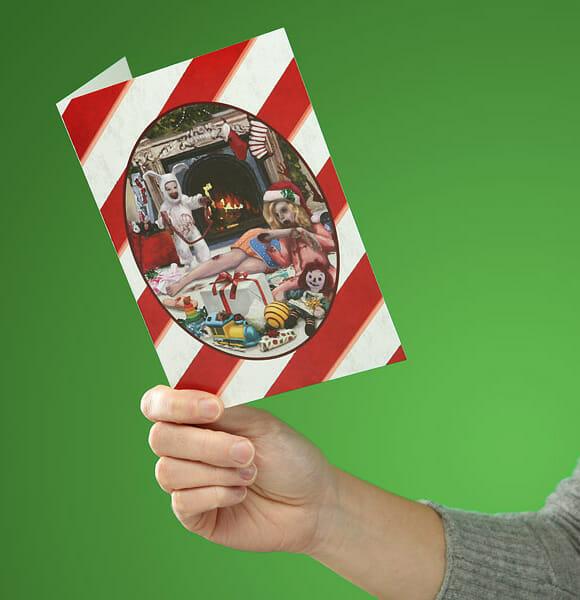 Natal bizarro com cartões de natal de zumbis