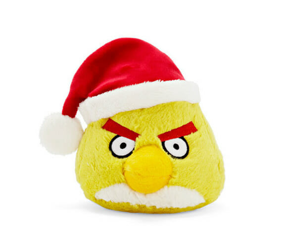 Decoração de natal divertida com enfeites do Angry Birds