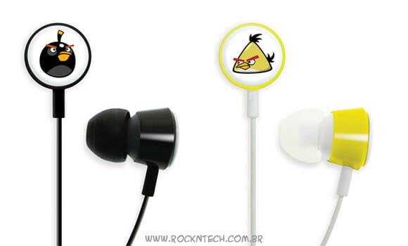 Fones de ouvido Angry Birds