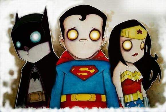 Heróis e vilões adoráveis do dia
