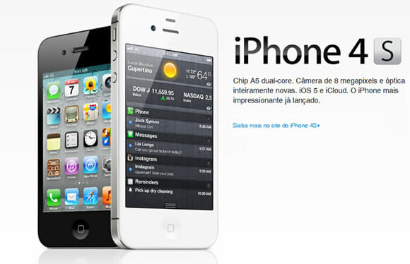 """Pela 1ª vez, iPhone 4S """"desbloqueado"""" será vendido pela Apple Store brasileira"""