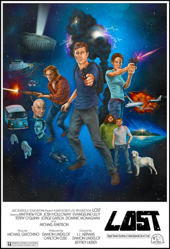 Posters misturam Lost com Star Wars